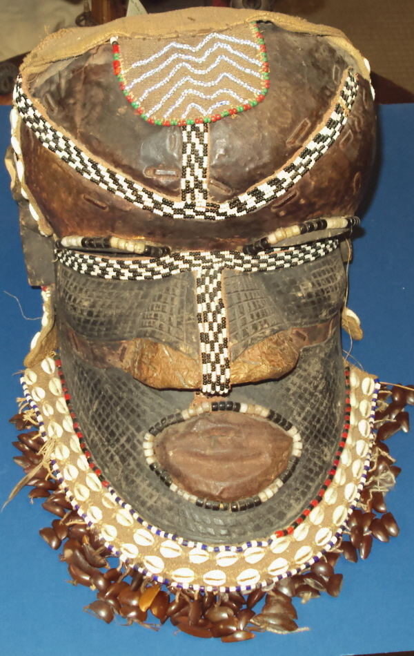 African Tribal Ceremonial Mask Zaire