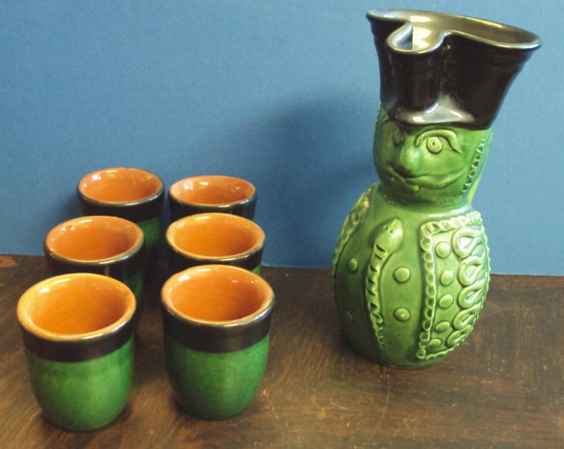 Face Jug and 6 cups