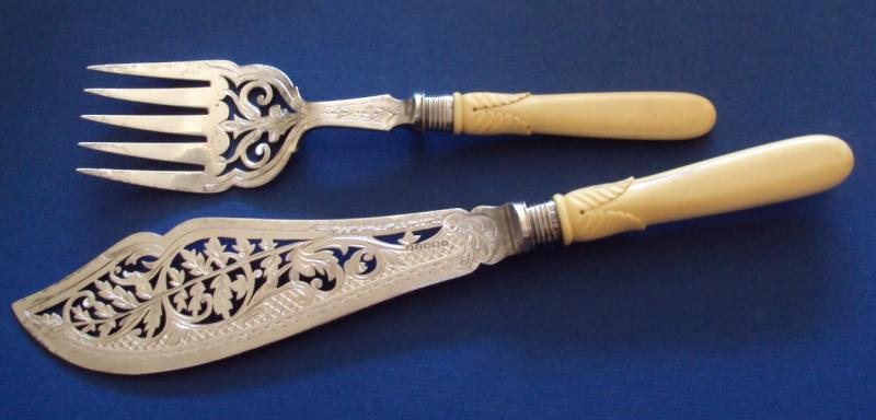 Stirling English Hallmarked Fish Serving Set